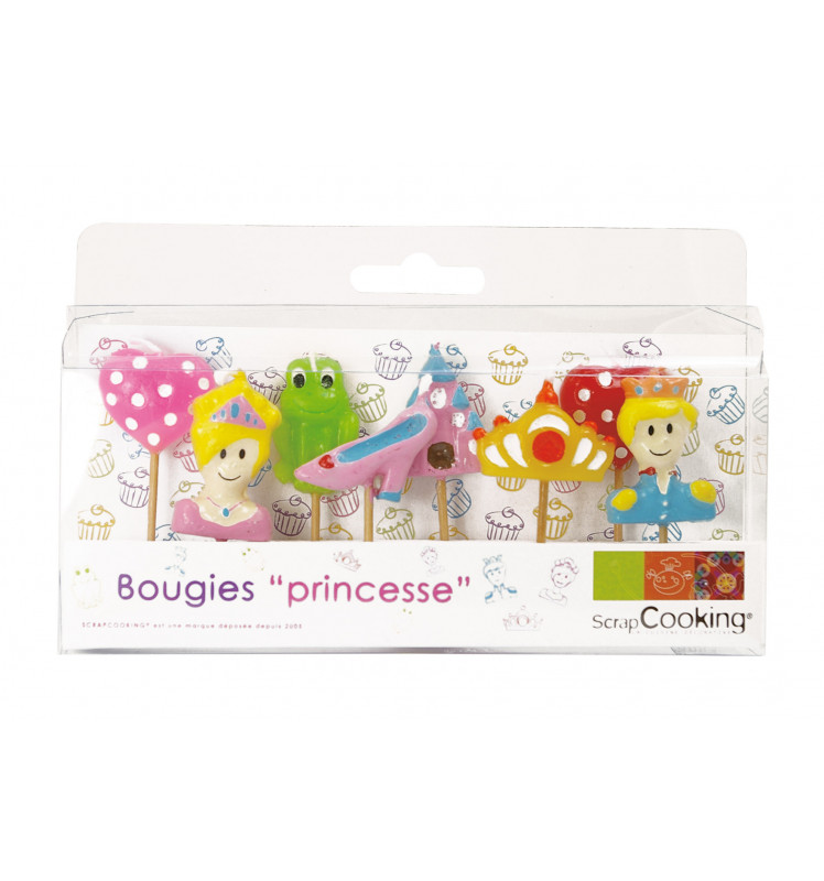 "Lot de 8 bougies ""Princesse"""