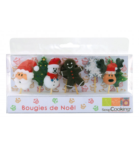 Lot de 8 Bougies Noël