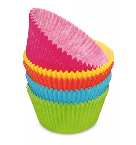Lot de 100 caissettes 5 couleurs assorties