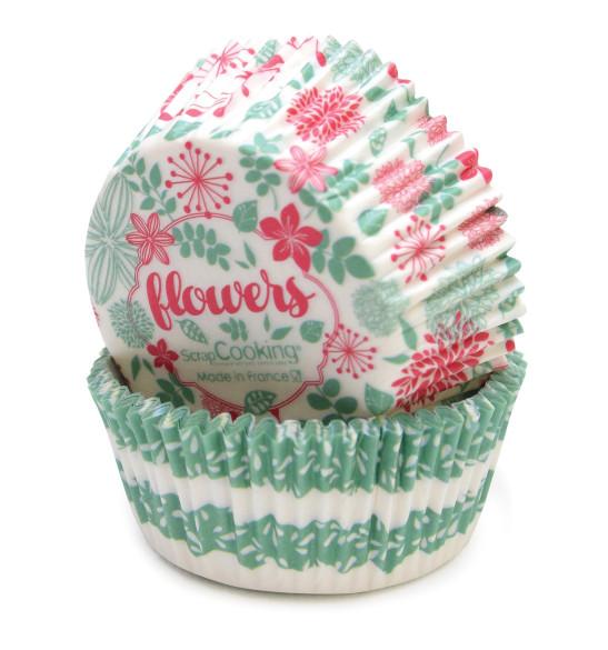 Caissettes Flowers +/- 36