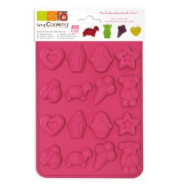 Moule silicone petits bonbons et chocolat réf.6722