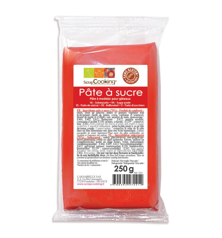 Pâte à sucre rouge 250g