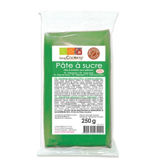Pâte à sucre vert 250g