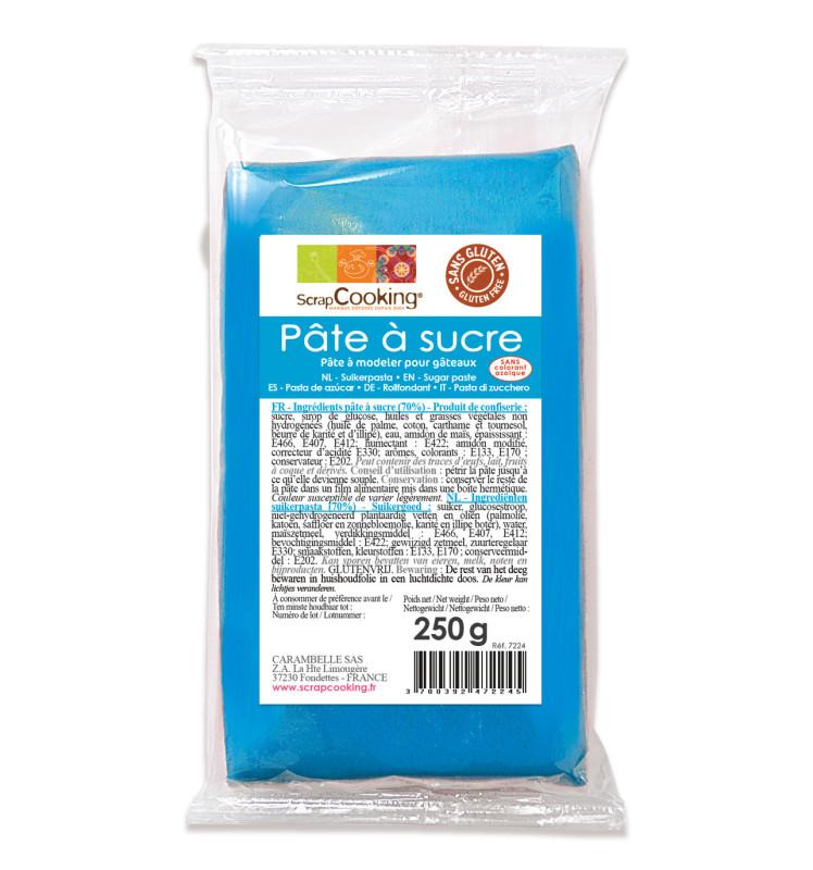 Pâte à sucre bleu 250g