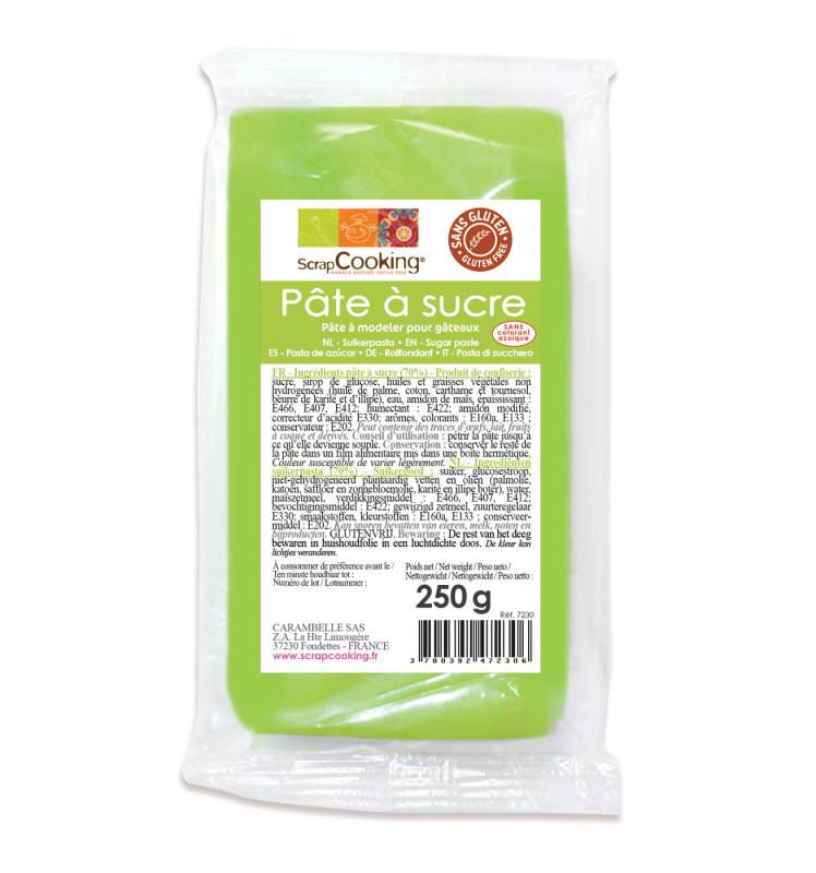 Pâte à sucre vert prairie 250g