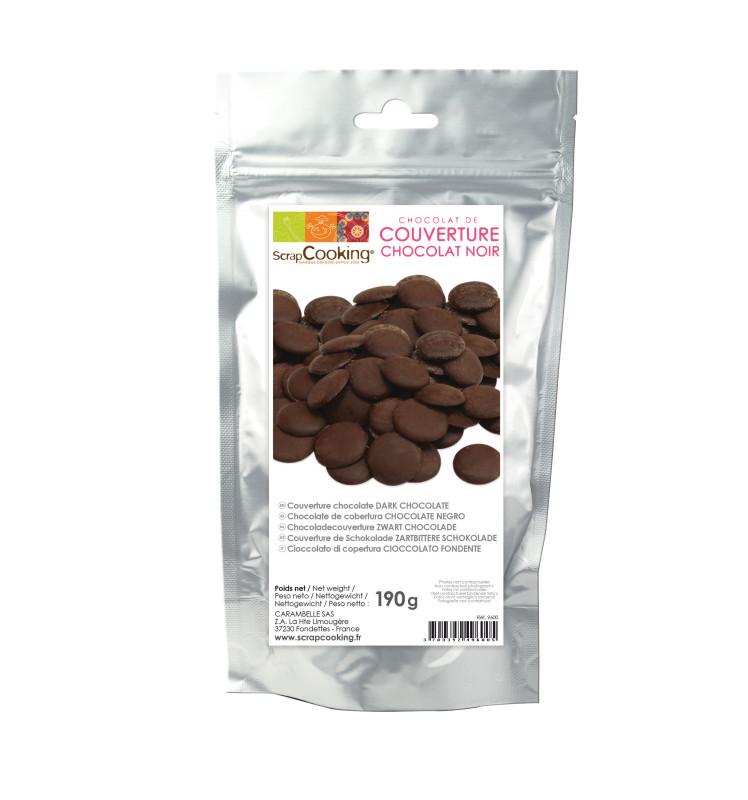 Palets de chocolat noir 190 gr