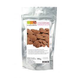 Palets de chocolat lait 190 gr réf.9601