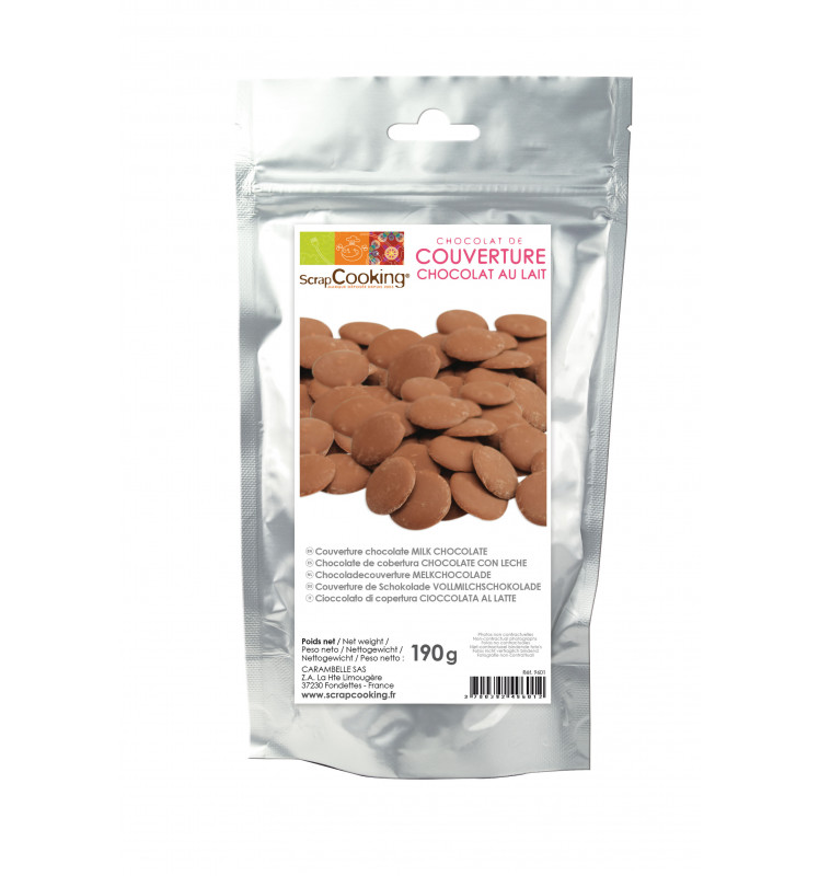 Milk chocolate couverture 190g