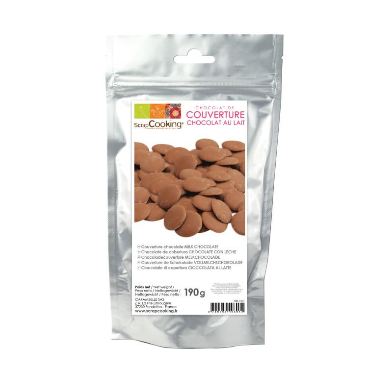 Palets de chocolat lait 190 gr