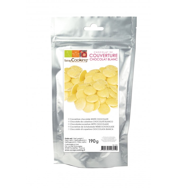 White chocolate couverture 190g