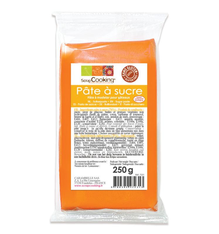 Pâte à sucre orange clair 250g