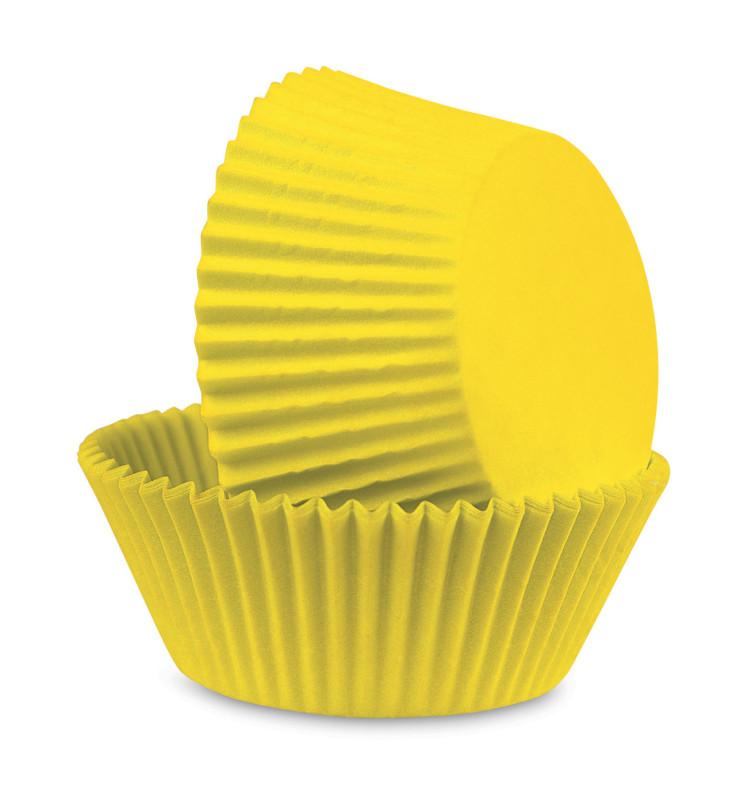 500 caissettes jaune