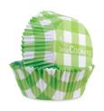 500 Caissettes vichy 'vert'