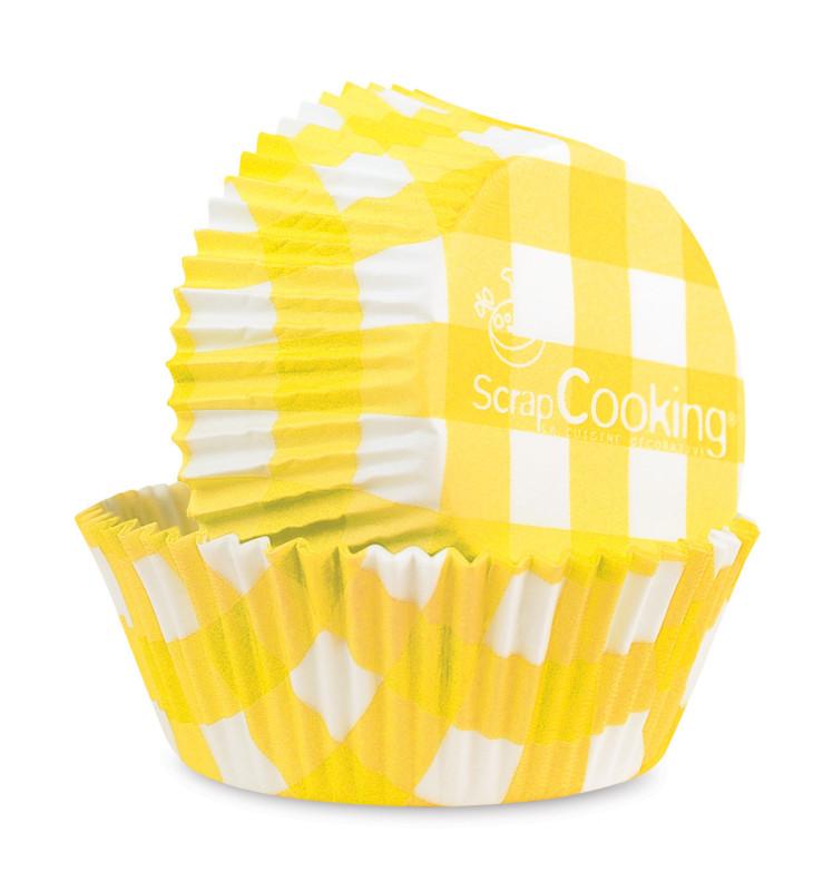 500 Caissettes vichy 'jaune'
