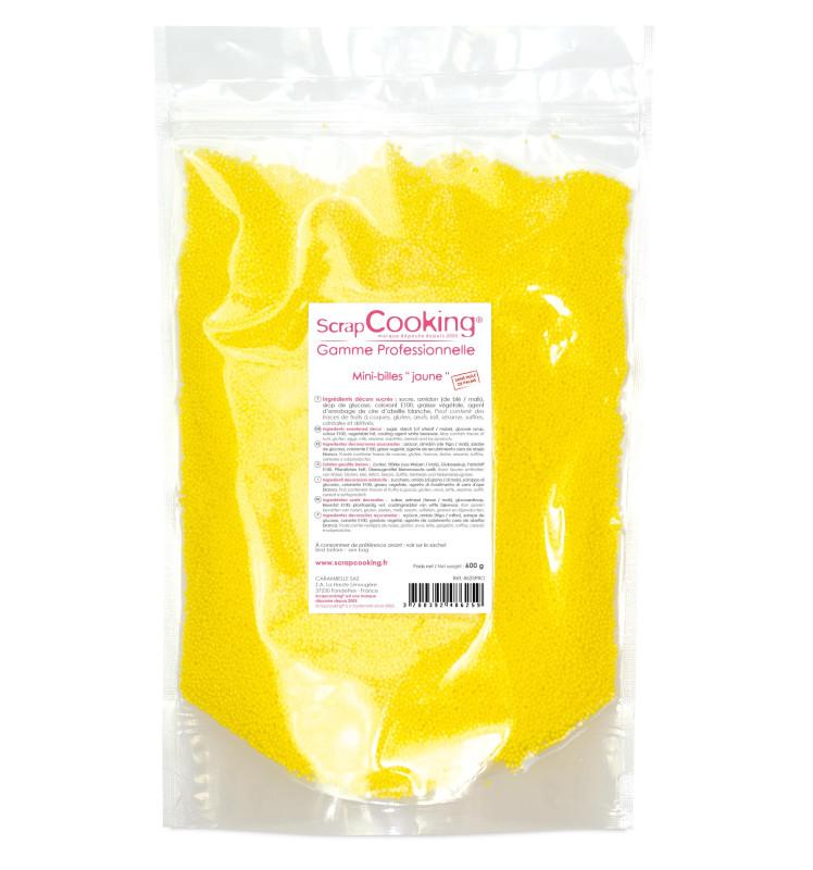Minis billes sucrés jaune 600 gr