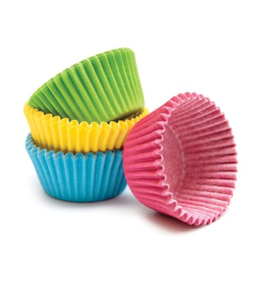 Lot de +/-76 caissettes pour mini-muffins