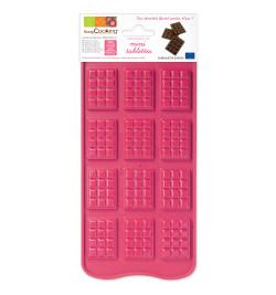 Moule silicone chocolat mini-tablettes réf.6728