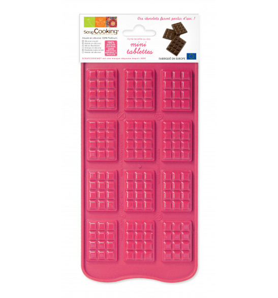 Moule silicone chocolat mini-tablettes