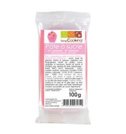 Pâte à sucre rose 100g