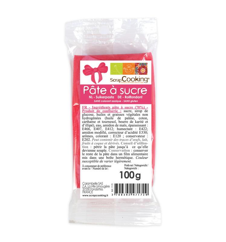 Pâte à sucre rose fuchsia 100g