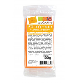 Pâte à sucre orange 100g