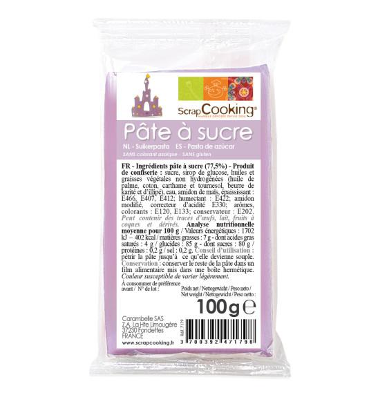 Pâte à sucre parme 100g