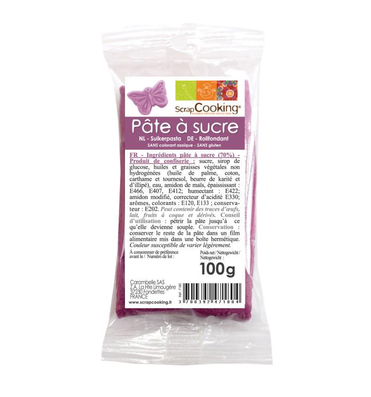 Pâte à sucre violette 100g