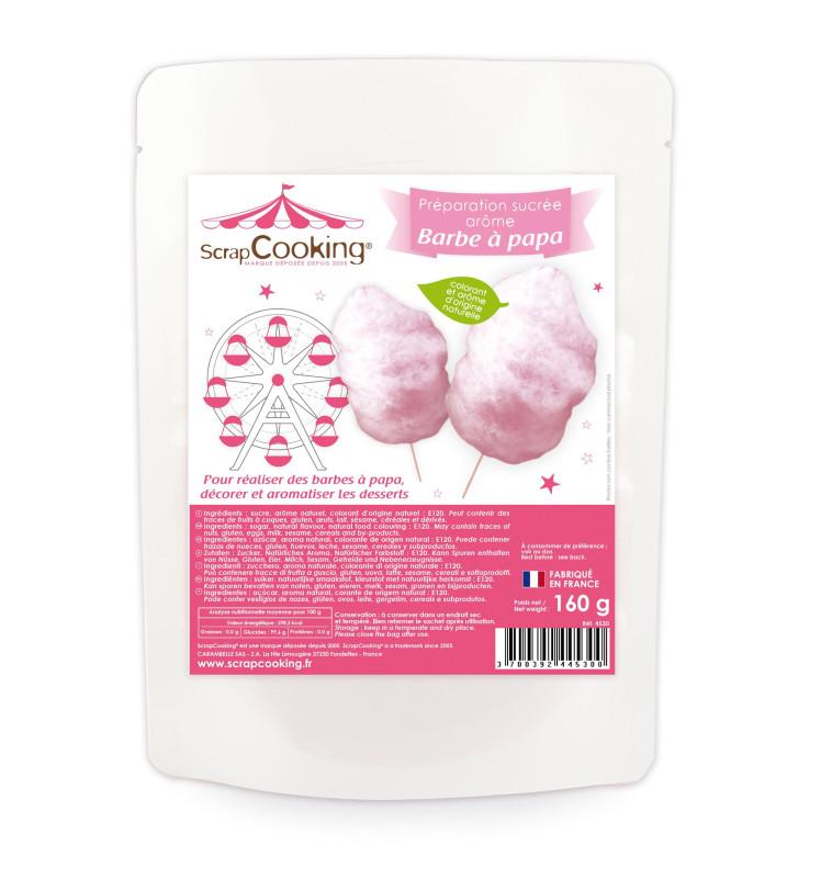 Préparation sucrée rose pour barbe à papa arôme barbe à papa 160 g