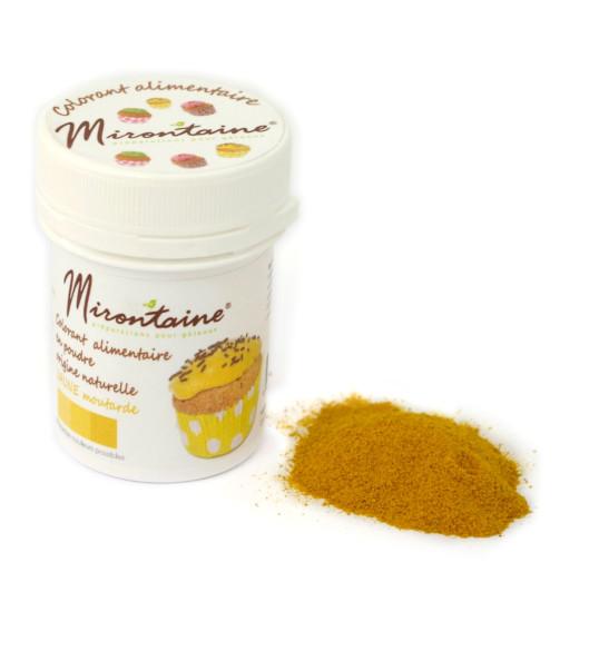 """Colorant origine naturelle bio """"jaune moutarde"""" 10g"""
