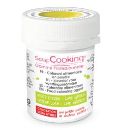 Colorant alimentaire en poudre vert citron 5 gr réf.4034