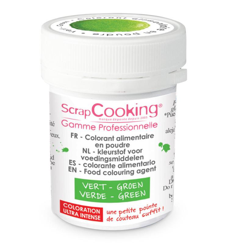 Colorant alimentaire en poudre vert 5g
