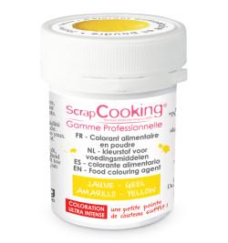 Colorant alimentaire en poudre jaune 5 gr réf.4037