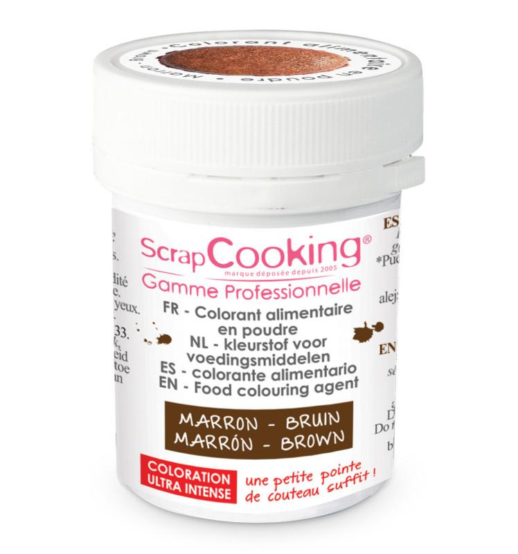 Colorant alimentaire en poudre marron 5g