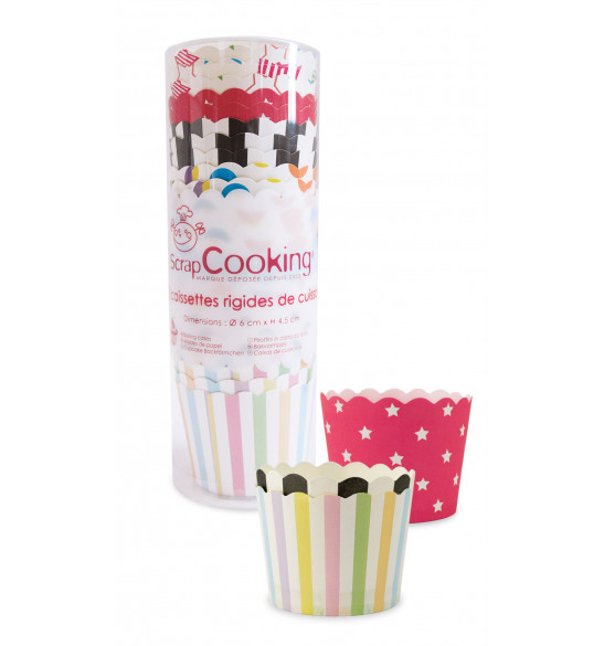 Set of 25 assorted cupcake cases