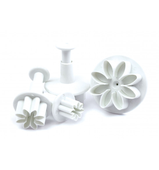 White flowers sugarpaste plunger cutters