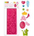 ScrapCooking® silicone mould for princess-themed sugar decos