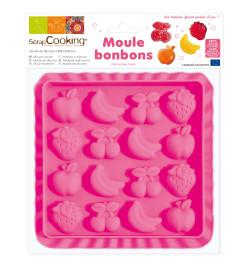 Moule silicone pour bonbons fruits et chocolat réf.6721