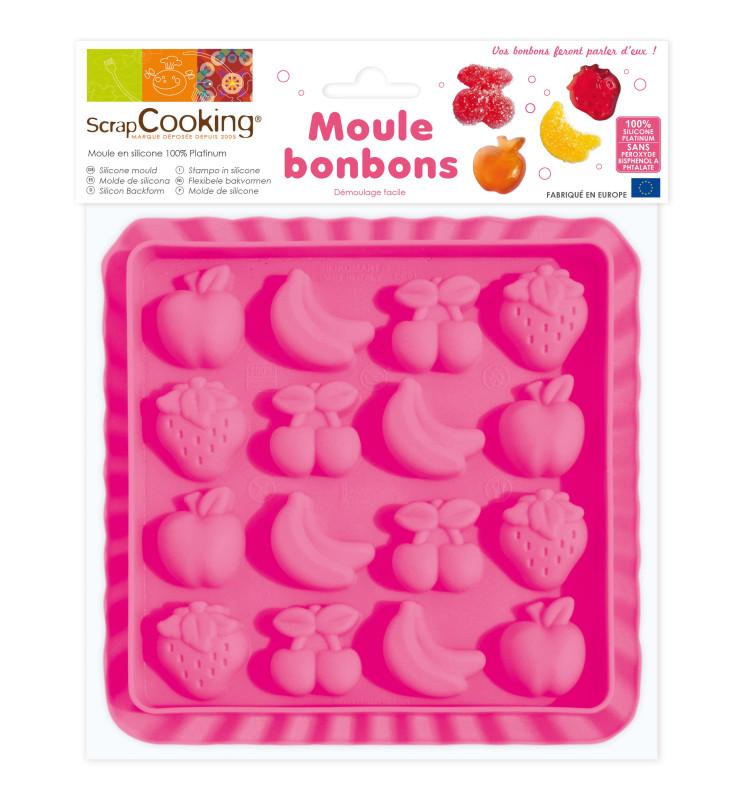 Moule silicone pour bonbons fruits
