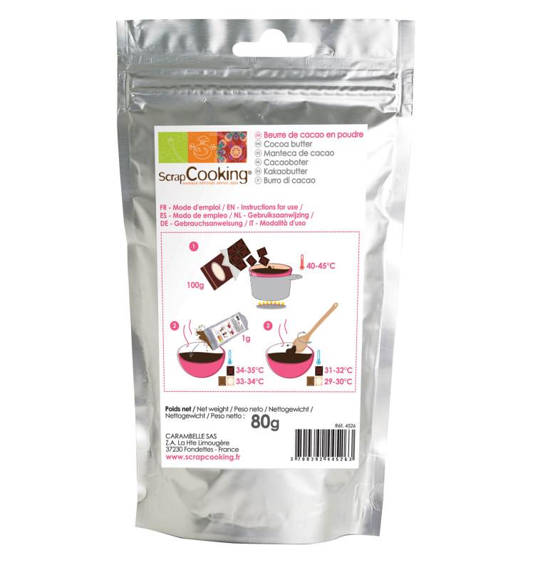 Beurre de cacao en poudre