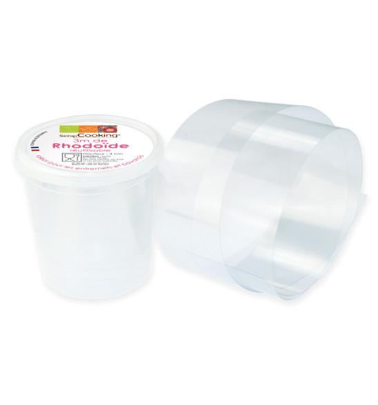 Rhodoid band for desserts 3m - H4 cm