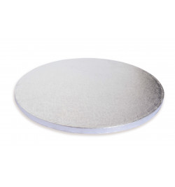 1 Thick round silver cake...