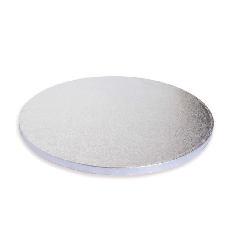 Support à gâteaux rond épais argenté Ø30 cm