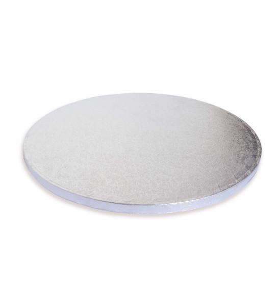 Support gâteaux argenté épais Ø30 cm