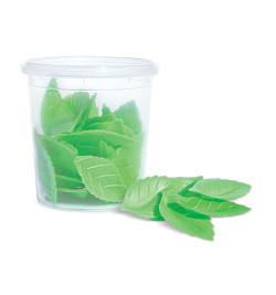Décos azymes 24 feuilles vertes réf.2260