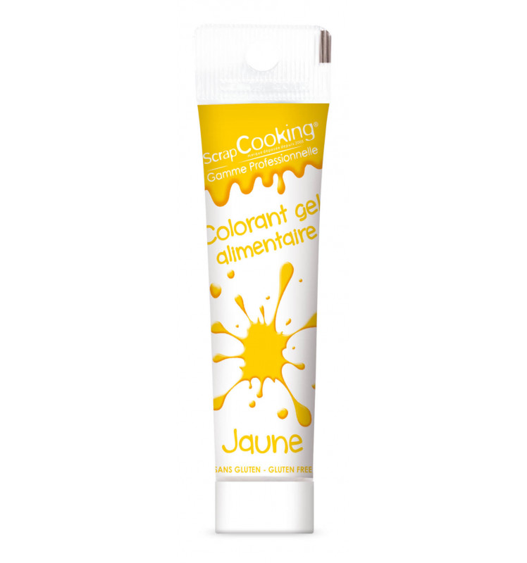 Colorant gel alimentaire jaune 20 gr