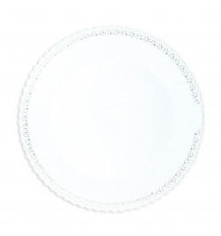 Round cake board with a...