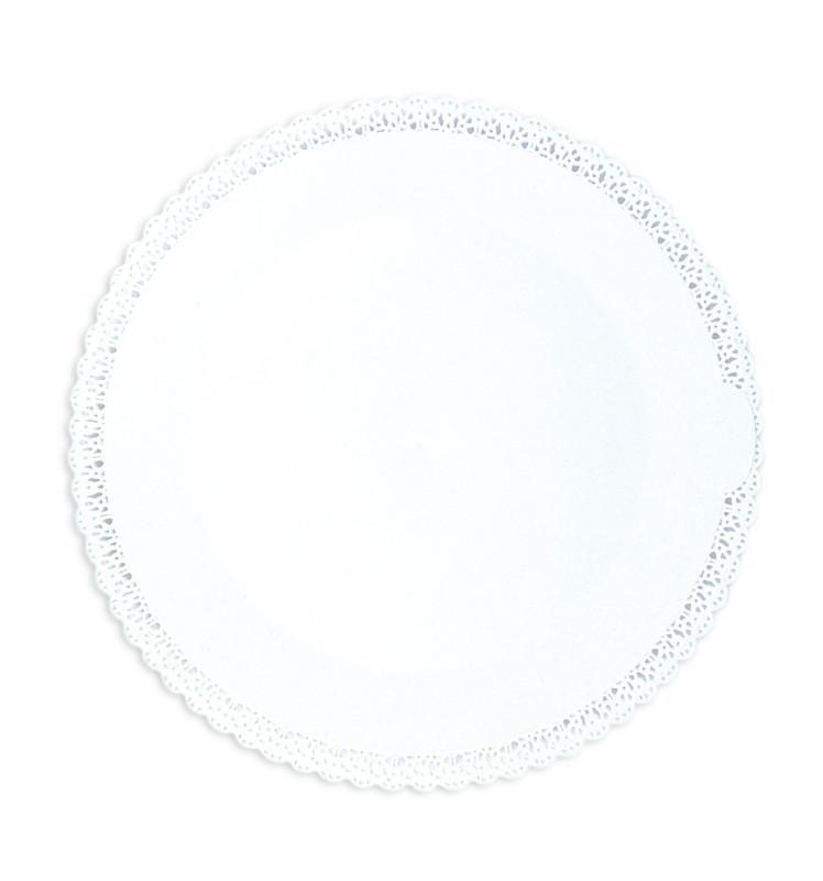 Plat dentelle blanc rond Ø32 cm