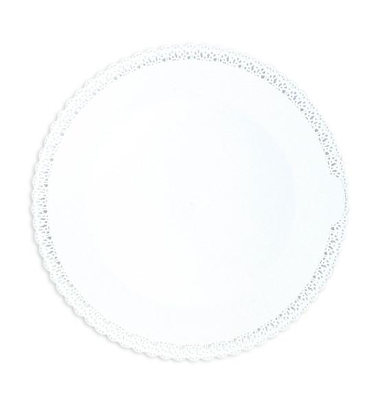 Plat dentelle Rond  Ø 32 cm blanc