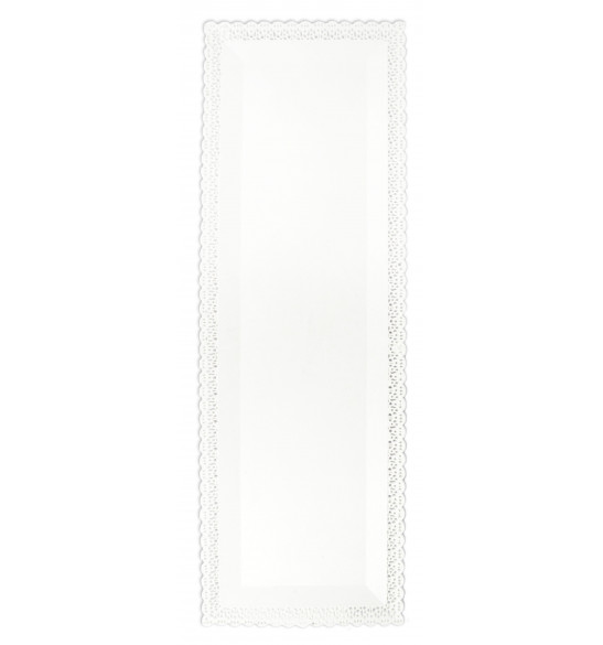 Plat dentelle blanc 13x40cm