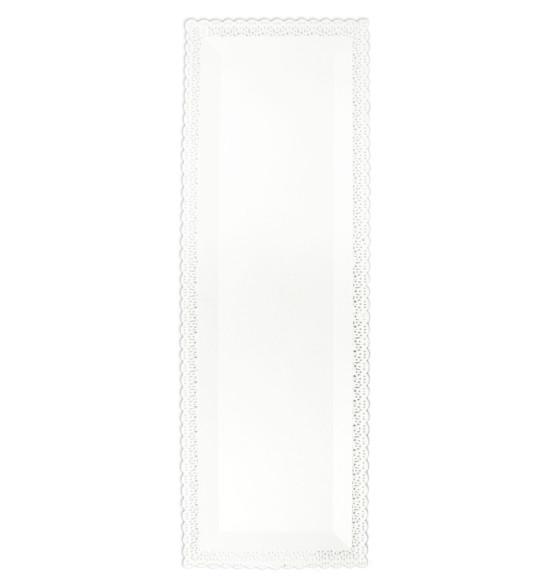 Plat dentelle Rectangulaire blanc 13 x 40 cm